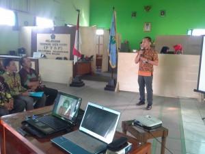 Lurah Tlogomas saat menerima kunjungan dari Kab. Samarinda Selatan
