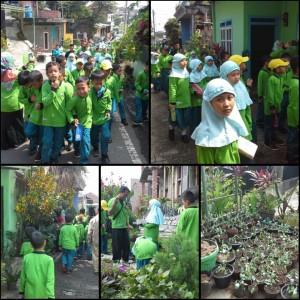 Siswa siswi SDI Sabilillah mengunjungi Kampung Subur Makmur RW03 Tlogomas